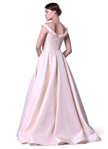 Pierre Cardin Uzun Abiye Elbise Bej